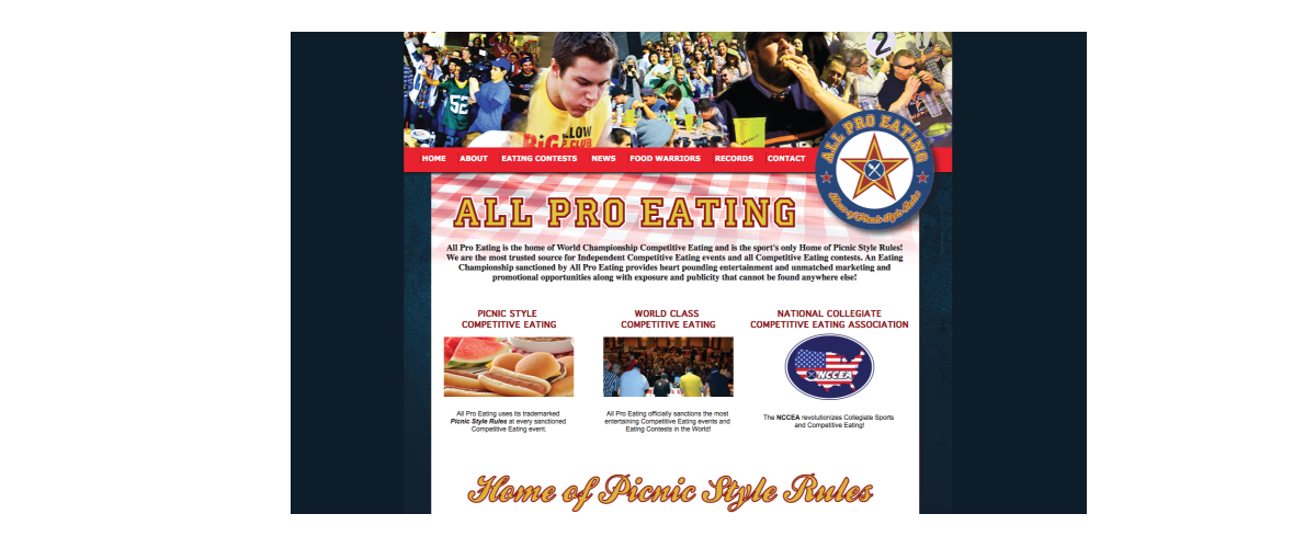 All Pro Eating Promotions Website