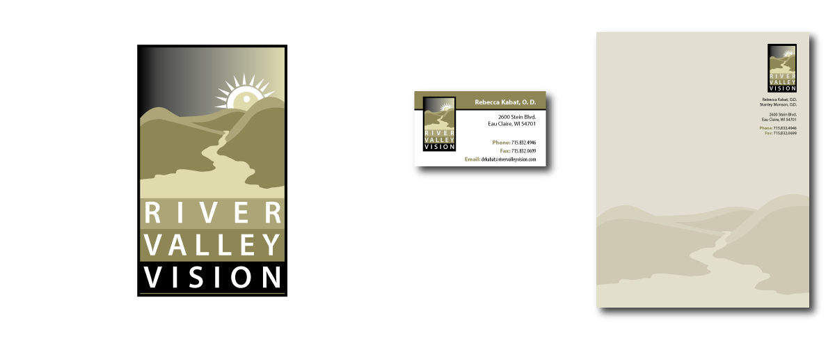 River Valley Vision Logo and Business Package